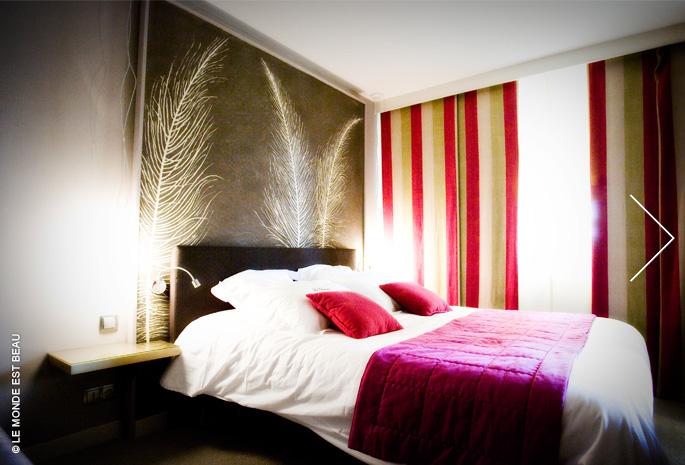 """Plume"" M/III n°3, hôtel La Chaumière, Dole, agence Art&Home, 2009"