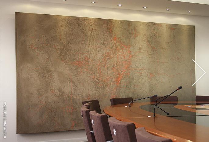 « Empreinte géographique » M/V n°2, siège social de la Caisse d'Épargne Rhône-Alpes, 2010