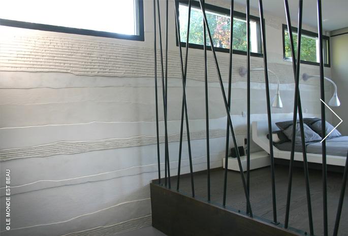 Résidence, juxtaposition de différents enduits minéraux, Collection M/II, module Architectes Associés Rhône Alpes 2009