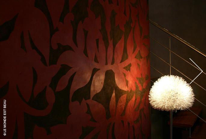 Appartement, superposition d'enduit minéral et sgraffite, Collection M/IV, Rhône-Alpes 2004
