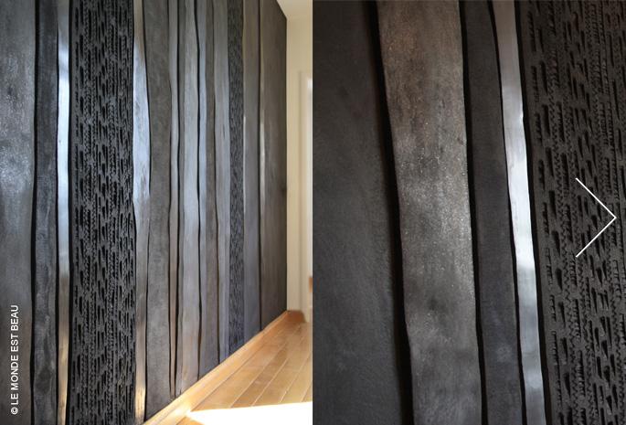 Juxtaposition de différents enduits minéraux, Collection M/II, Lyon 2012