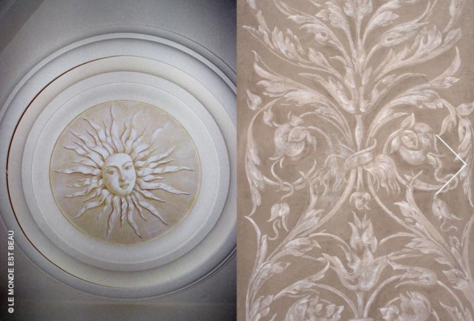 Mise en valeur par grisailles, glacis traditionnels et Peinture a fresco, Rhône-Alpes, 1999